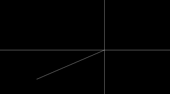 線分の一点目を指定した状態