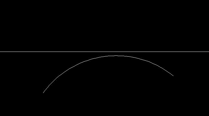 円弧の終点を指定