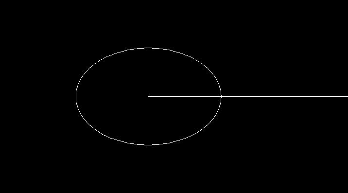 楕円の作図完了