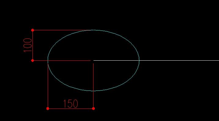 楕円に寸法を記入してみる