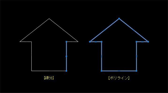 線分とポリラインの違い