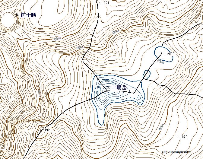 地図での等高線表現