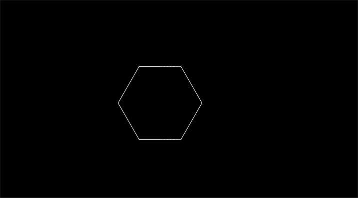 六角形が作図された状態