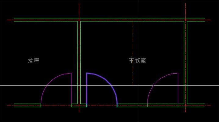 対称線を画面上から指定