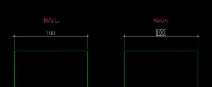 文字列の周囲に枠を描いた結果