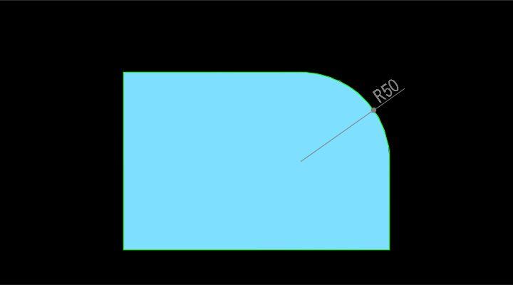 半径寸法のイメージ